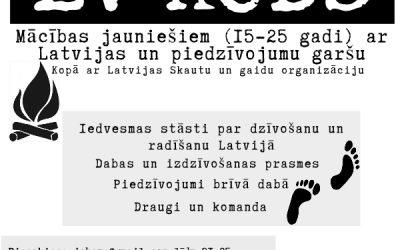 """Mācības jauniešiem ar Latvijas un piedzīvojumu garšu """"LV KODS"""""""
