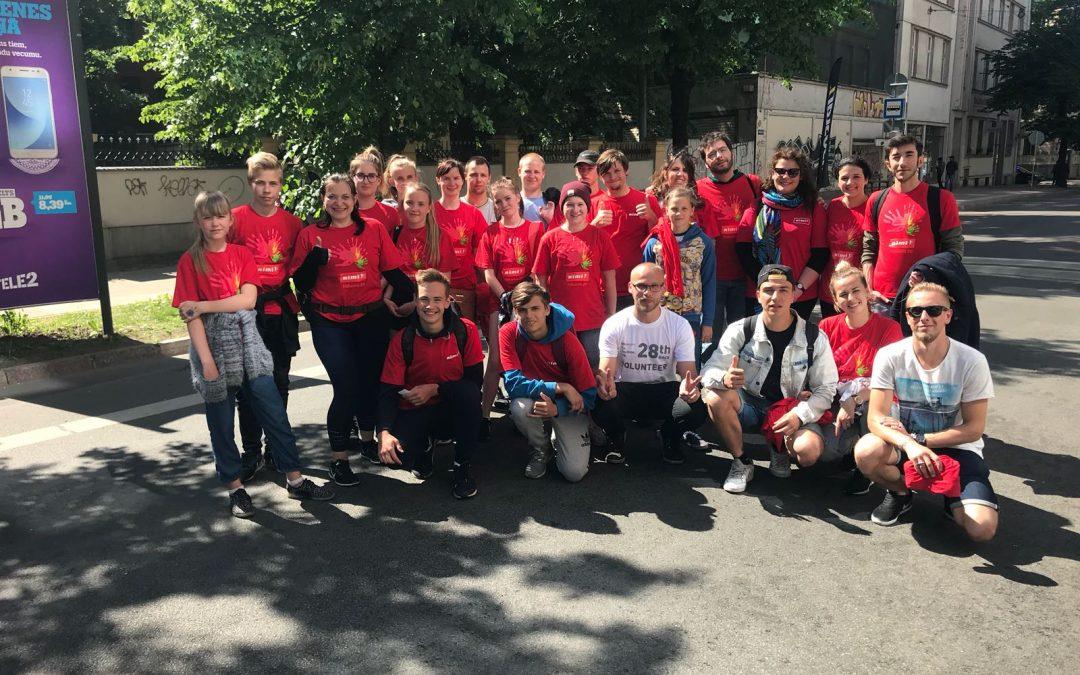 Brīvprātīgie Lattelecom Rīgas Maratonā.