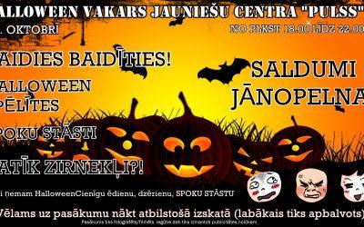 """Halloween pasākums jauniešu centrā """"Pulss"""""""