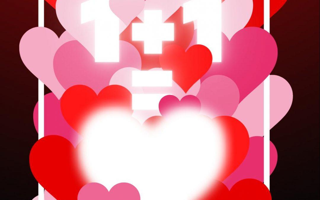 """Valentīndienas spēle """"1+1=mīlestība"""""""