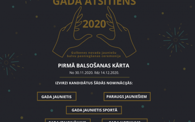 """""""Gada Atsitiens 2020"""" balsojuma atklāšana"""