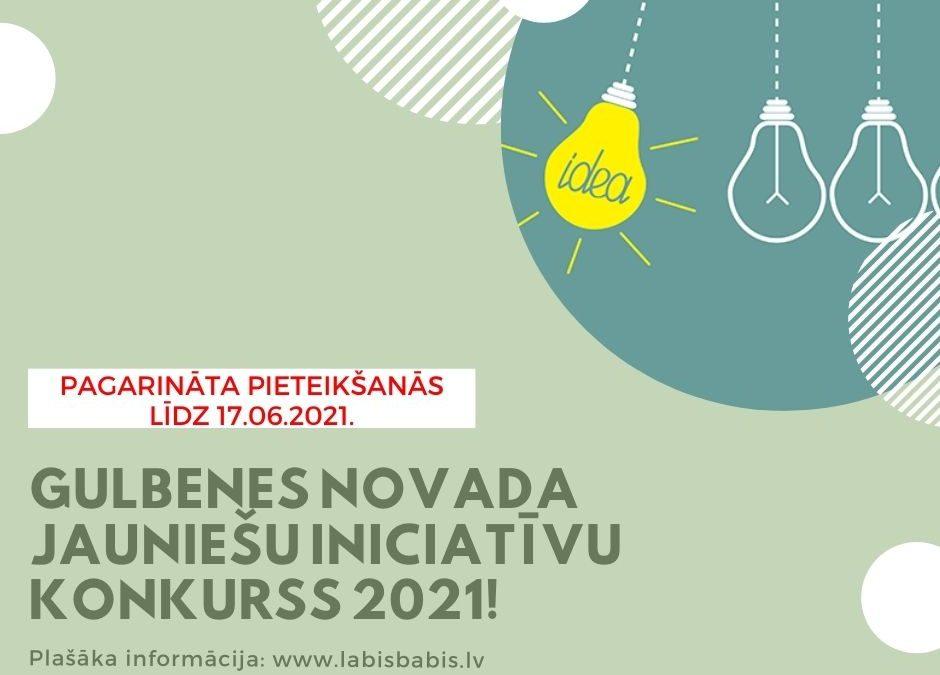 """Pagarināts ideju iesniegšanas termiņš """"Gulbenes novada jauniešu iniciatīvu konkursam 2021"""""""